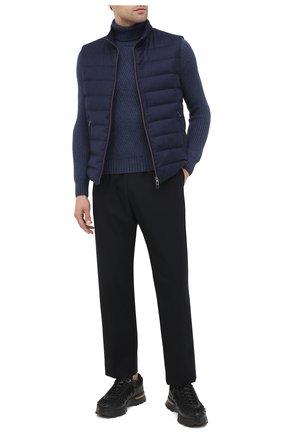 Мужской шерстяной свитер GRAN SASSO синего цвета, арт. 13124/14230 | Фото 2 (Длина (для топов): Стандартные; Материал внешний: Шерсть; Рукава: Длинные; Принт: Без принта; Стили: Кэжуэл)