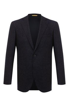 Мужской шерстяной пиджак CANALI темно-синего цвета, арт. 13275/CU00034/111 | Фото 1