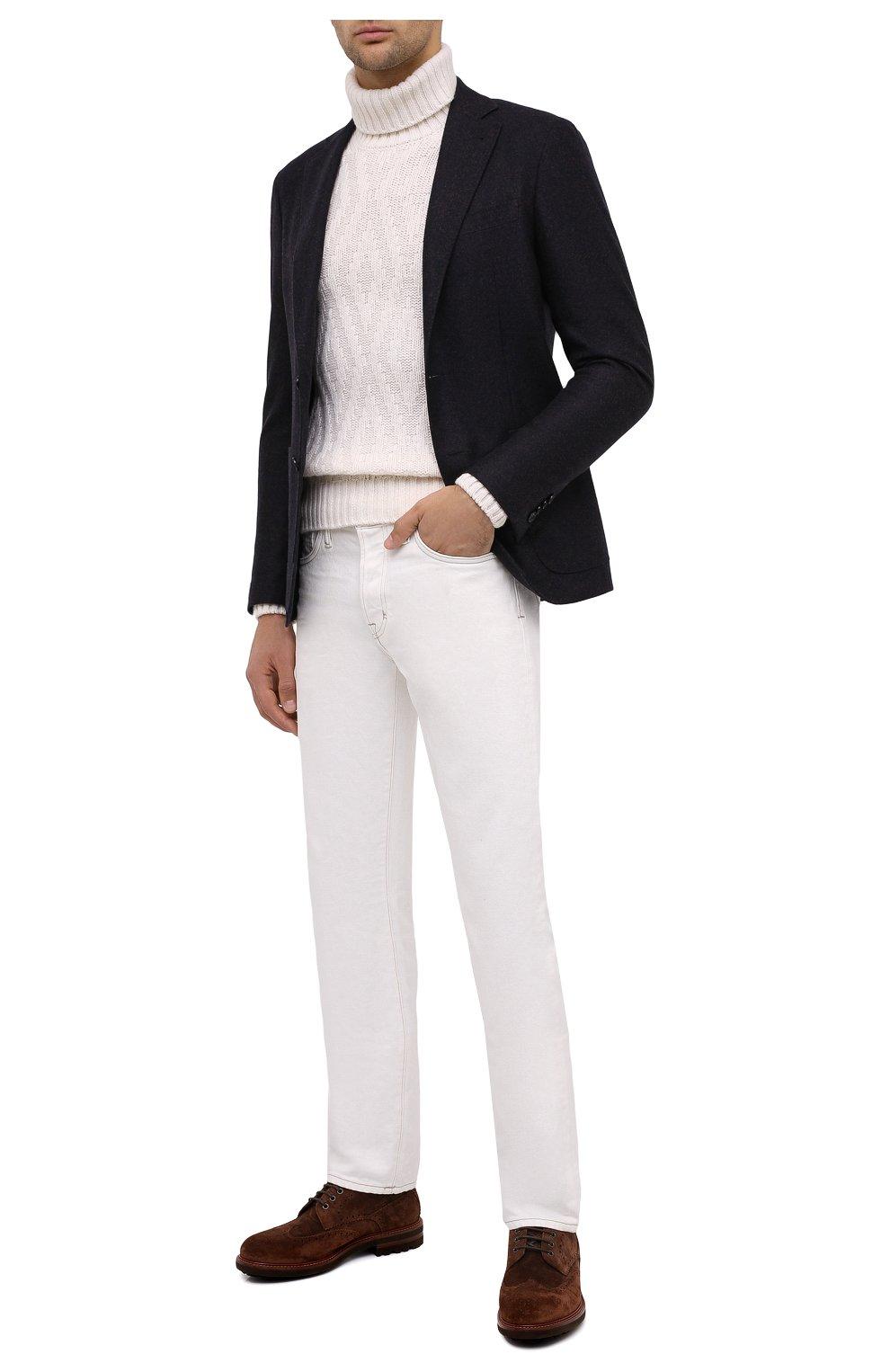 Мужской шерстяной пиджак CANALI темно-синего цвета, арт. 13275/CU00034/111 | Фото 2