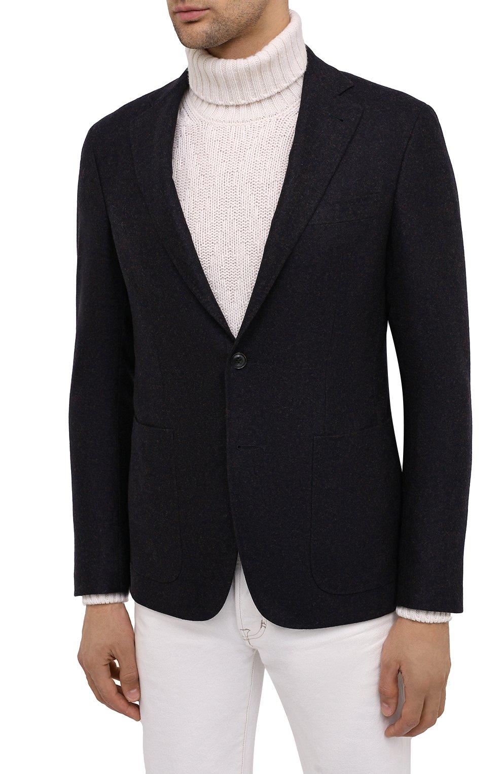 Мужской шерстяной пиджак CANALI темно-синего цвета, арт. 13275/CU00034/111 | Фото 4