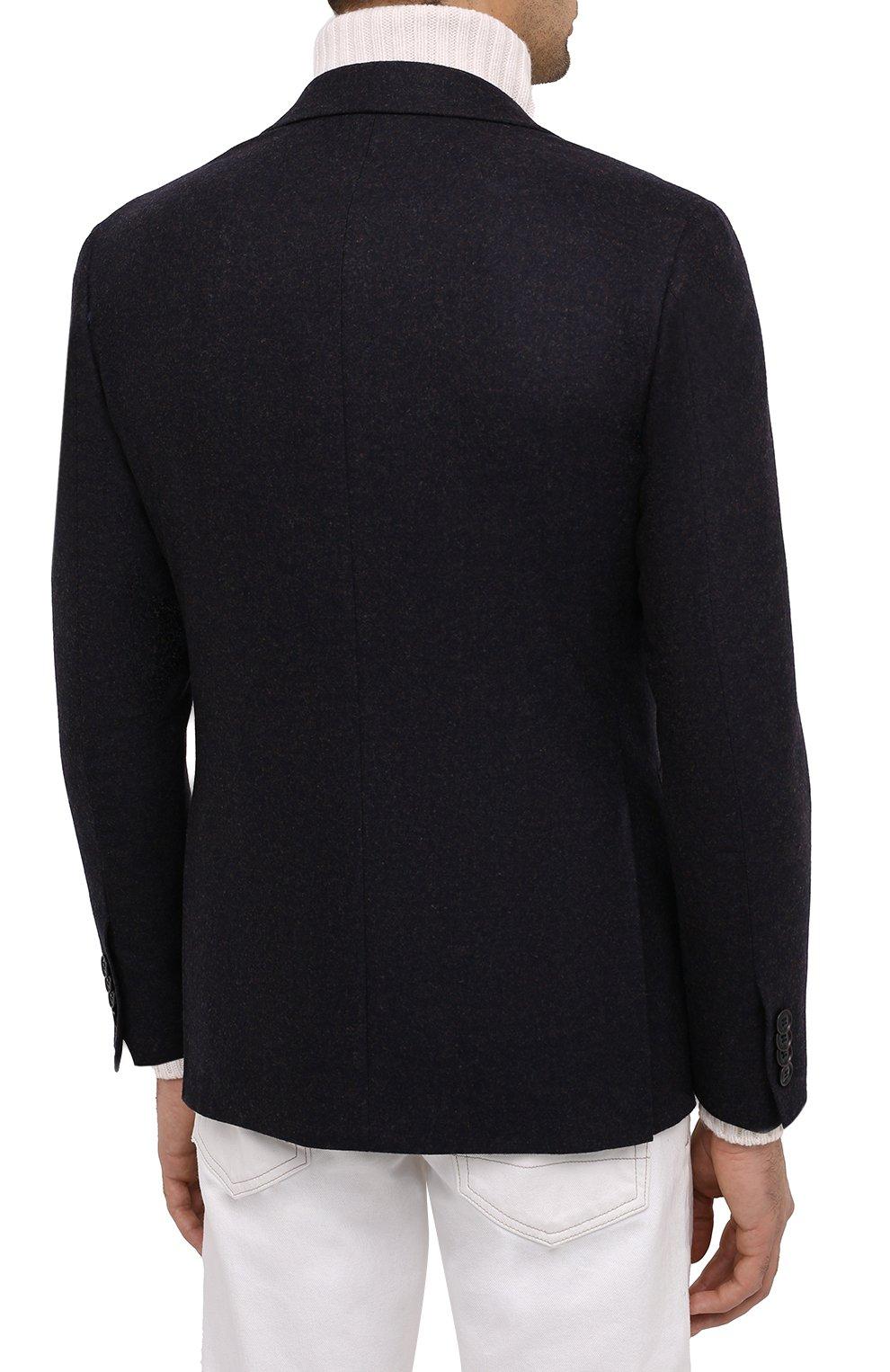 Мужской шерстяной пиджак CANALI темно-синего цвета, арт. 13275/CU00034/111 | Фото 5