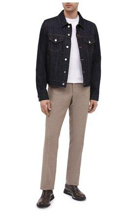 Мужские кожаные кроссовки BERLUTI темно-коричневого цвета, арт. S3873-021 | Фото 2