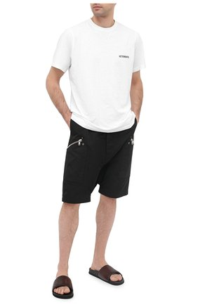 Мужские кожаные шлепанцы BERLUTI темно-коричневого цвета, арт. S5203-007 | Фото 2