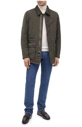 Мужские кожаные мокасины BERLUTI темно-серого цвета, арт. S5221-001 | Фото 2