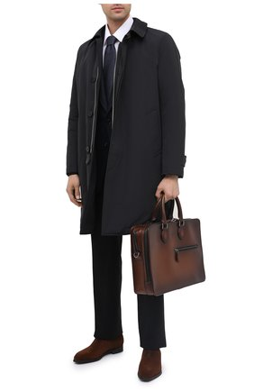Мужская кожаная сумка для ноутбука BERLUTI светло-коричневого цвета, арт. M149262 | Фото 2