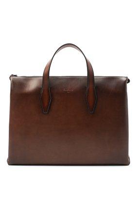 Мужская кожаная сумка для ноутбука BERLUTI коричневого цвета, арт. M173373 | Фото 1