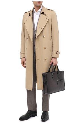 Мужская кожаная сумка для ноутбука BERLUTI темно-серого цвета, арт. M204771   Фото 2
