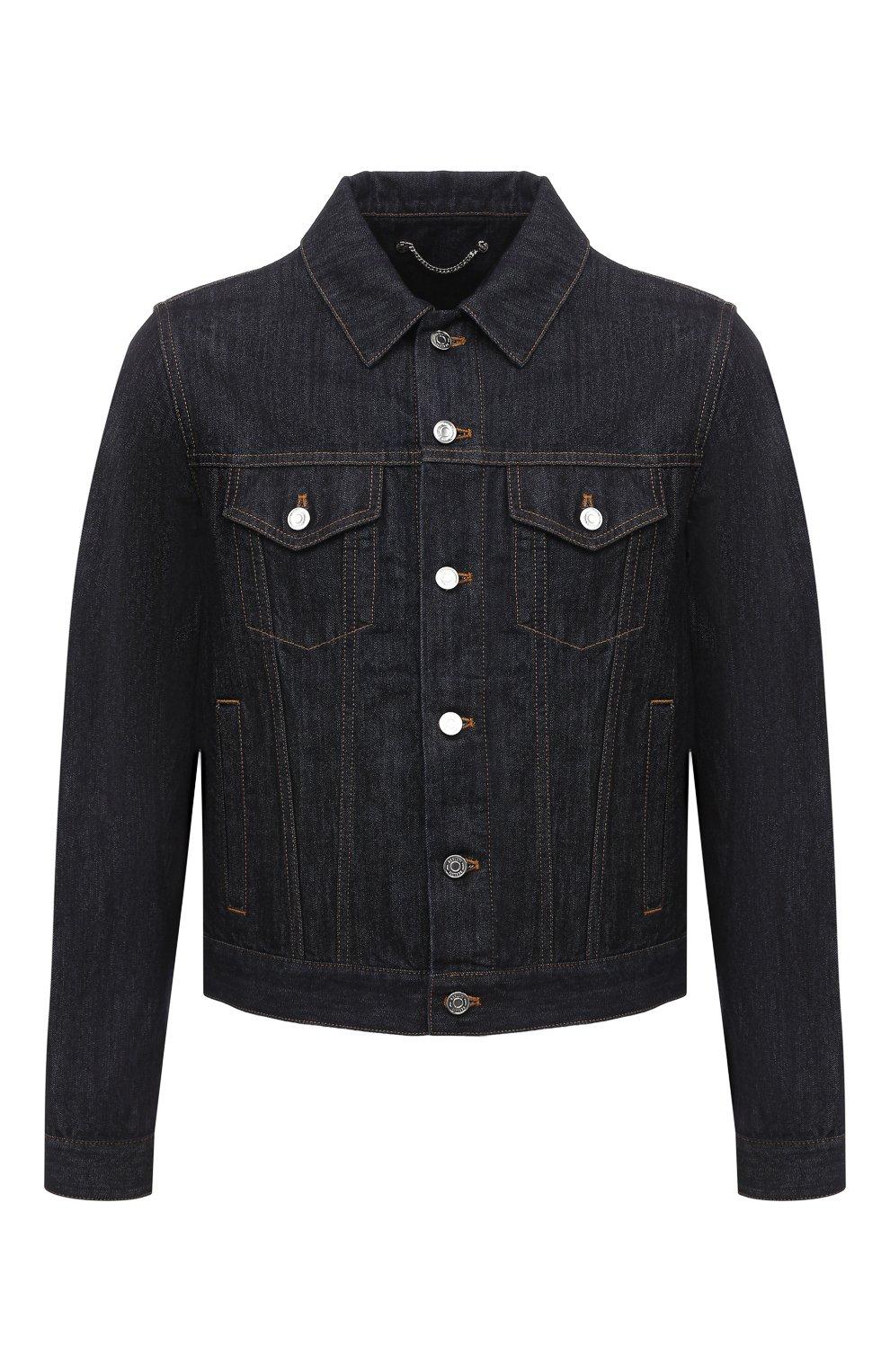 Мужская джинсовая куртка BERLUTI темно-синего цвета, арт. R180BL91-002   Фото 1