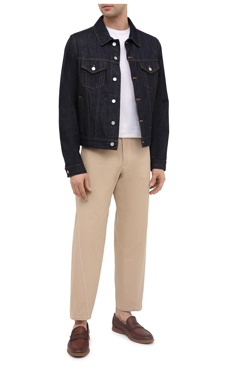 Мужская джинсовая куртка BERLUTI темно-синего цвета, арт. R180BL91-002   Фото 3