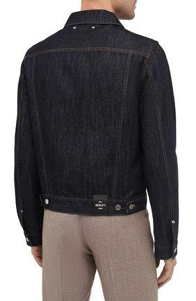 Мужская джинсовая куртка BERLUTI темно-синего цвета, арт. R180BL91-002   Фото 5