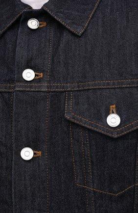 Мужская джинсовая куртка BERLUTI темно-синего цвета, арт. R180BL91-002   Фото 6