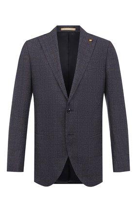 Мужской шерстяной пиджак SARTORIA LATORRE темно-синего цвета, арт. G0I7MF Q81085 | Фото 1