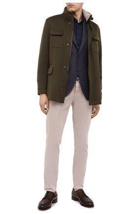 Мужской шерстяной пиджак SARTORIA LATORRE темно-синего цвета, арт. G0I7MF Q81085 | Фото 2