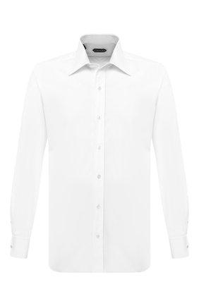 Мужская хлопковая сорочка TOM FORD белого цвета, арт. QFT000/94S2JE | Фото 1