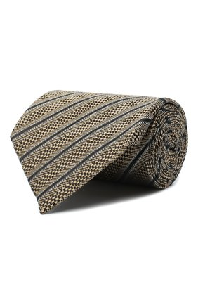 Мужской шелковый галстук TOM FORD бежевого цвета, арт. 8TF13/XTF | Фото 1