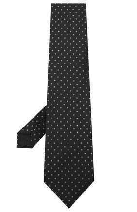Мужской шелковый галстук TOM FORD черного цвета, арт. 8TF10/XTF   Фото 2