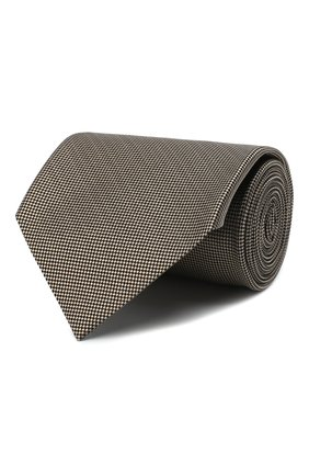 Мужской шелковый галстук TOM FORD бежевого цвета, арт. 8TF05/XTF | Фото 1