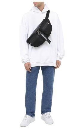 Мужская текстильная поясная сумка GIVENCHY черно-белого цвета, арт. BKU00LK0YM | Фото 2