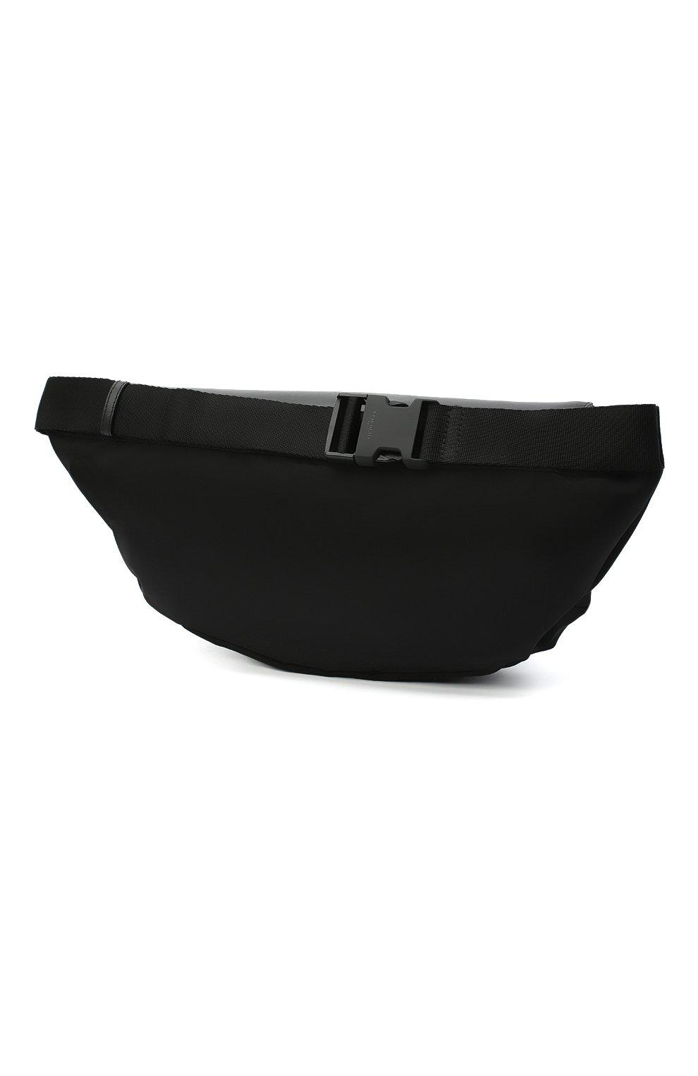 Мужская текстильная поясная сумка GIVENCHY черно-белого цвета, арт. BKU00LK0YM | Фото 3