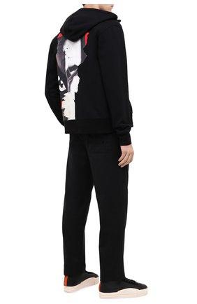 Мужские кожаные кеды yuben mid Y-3 черного цвета, арт. FX0568/M | Фото 2