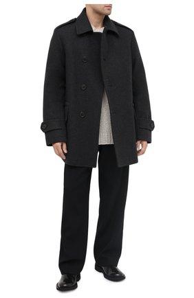Мужской пальто DRIES VAN NOTEN серого цвета, арт. 202-20515-1197 | Фото 2