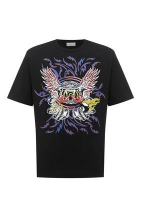 Мужская хлопковая футболка DRIES VAN NOTEN черного цвета, арт. 202-21121-1600 | Фото 1