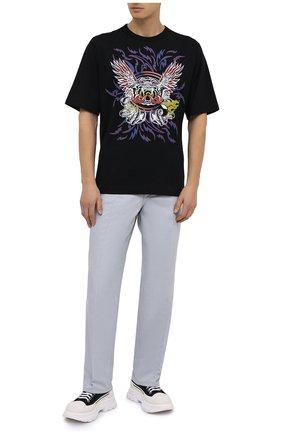 Мужская хлопковая футболка DRIES VAN NOTEN черного цвета, арт. 202-21121-1600 | Фото 2