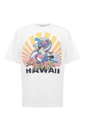 Мужская хлопковая футболка DRIES VAN NOTEN белого цвета, арт. 202-21121-1600 | Фото 1