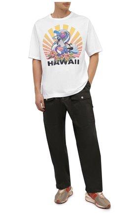 Мужская хлопковая футболка DRIES VAN NOTEN белого цвета, арт. 202-21121-1600 | Фото 2