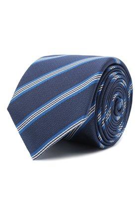 Мужской галстук BOSS темно-синего цвета, арт. 50442793 | Фото 1