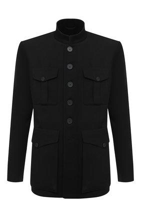 Мужской шерстяной пиджак BALENCIAGA черного цвета, арт. 642240/TJT24 | Фото 1