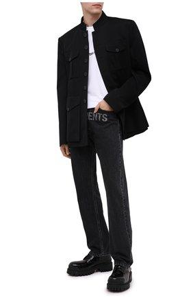 Мужской шерстяной пиджак BALENCIAGA черного цвета, арт. 642240/TJT24 | Фото 2