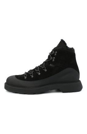 Мужские комбинированные ботинки BOSS черного цвета, арт. 50439828 | Фото 3
