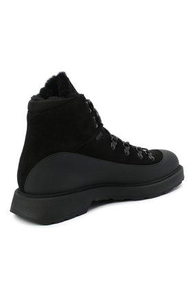 Мужские комбинированные ботинки BOSS черного цвета, арт. 50439828 | Фото 4