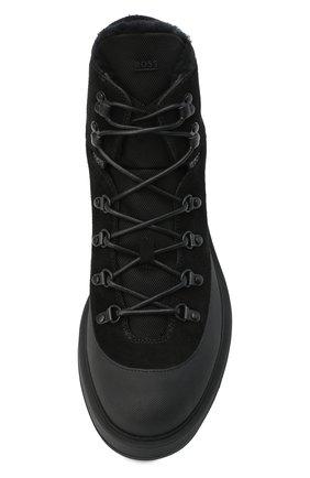 Мужские комбинированные ботинки BOSS черного цвета, арт. 50439828 | Фото 5