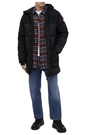 Мужская пуховик armstrong CANADA GOOSE черного цвета, арт. 5088M | Фото 2 (Материал утеплителя: Пух и перо; Материал внешний: Синтетический материал; Рукава: Длинные; Материал подклада: Синтетический материал; Длина (верхняя одежда): До середины бедра; Мужское Кросс-КТ: Верхняя одежда, Пуховик-верхняя одежда, пуховик-короткий; Стили: Кэжуэл; Кросс-КТ: Пуховик, Куртка)