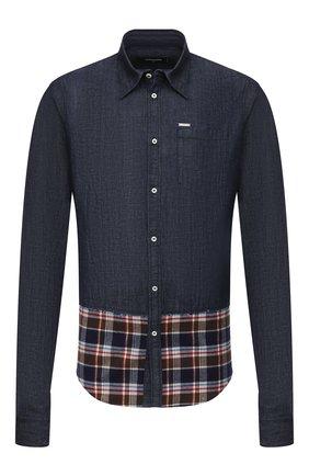 Мужская джинсовая рубашка DSQUARED2 синего цвета, арт. S71DM0418/S30712 | Фото 1