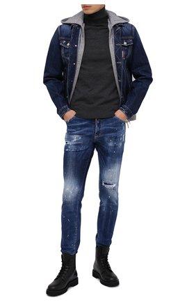 Мужские джинсы DSQUARED2 синего цвета, арт. S71LB0773/S30342 | Фото 2