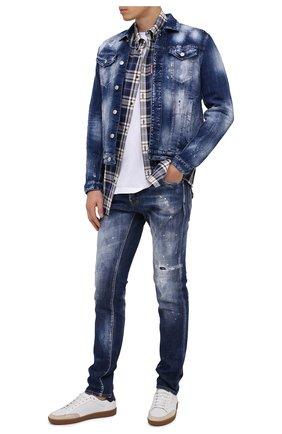 Мужские джинсы DSQUARED2 синего цвета, арт. S71LB0795/S30342 | Фото 2
