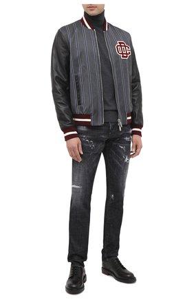 Мужские джинсы DSQUARED2 черного цвета, арт. S71LB0800/S30357 | Фото 2