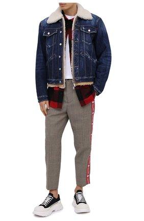 Мужская джинсовая куртка DSQUARED2 синего цвета, арт. S74AM1048/S30309 | Фото 2
