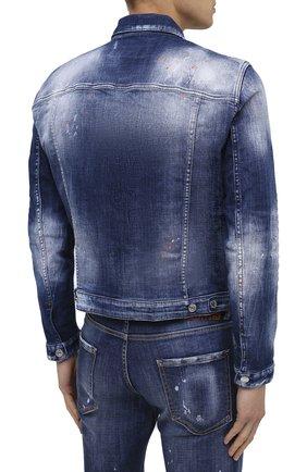Мужская джинсовая куртка DSQUARED2 синего цвета, арт. S74AM1060/S30342 | Фото 4