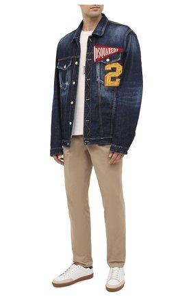 Мужская джинсовая куртка DSQUARED2 синего цвета, арт. S74AM1062/S30664 | Фото 2