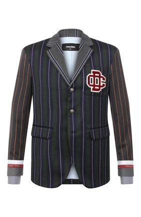 Мужской пиджак из шерсти и хлопка DSQUARED2 разноцветного цвета, арт. S74BN1008/S52989 | Фото 1