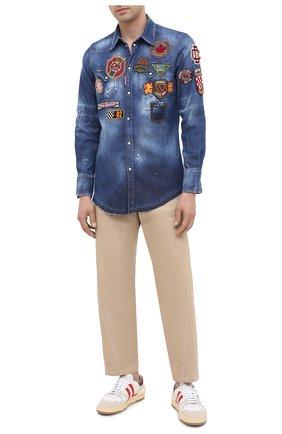 Мужская джинсовая рубашка DSQUARED2 синего цвета, арт. S74DM0444/S30341 | Фото 2