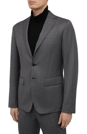 Мужской шерстяной костюм DSQUARED2 серого цвета, арт. S74FT0409/S53025 | Фото 2