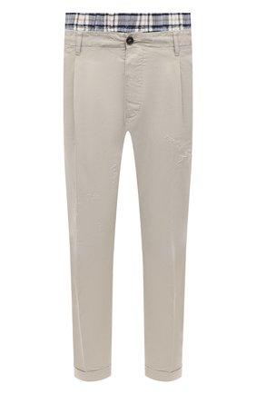 Мужской хлопковые брюки DSQUARED2 светло-серого цвета, арт. S74KB0469/S41794 | Фото 1