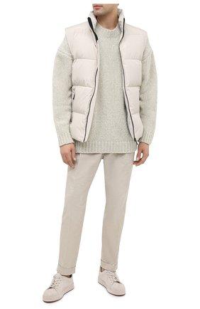 Мужской хлопковые брюки DSQUARED2 светло-серого цвета, арт. S74KB0469/S41794 | Фото 2