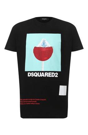 Мужская хлопковая футболка DSQUARED2 черного цвета, арт. S71GD0948/S22427 | Фото 1