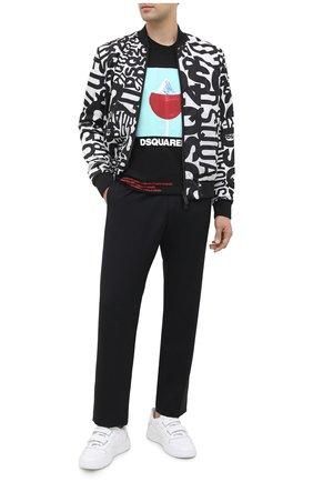 Мужская хлопковая футболка DSQUARED2 черного цвета, арт. S71GD0948/S22427 | Фото 2